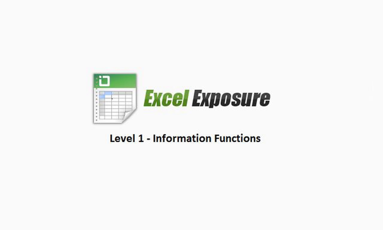 32 – Excel 2013 Training Class: Information Functions in Excel